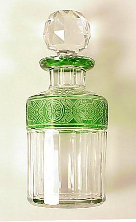 Art Nouveau Deco Glass Perfume Bottle