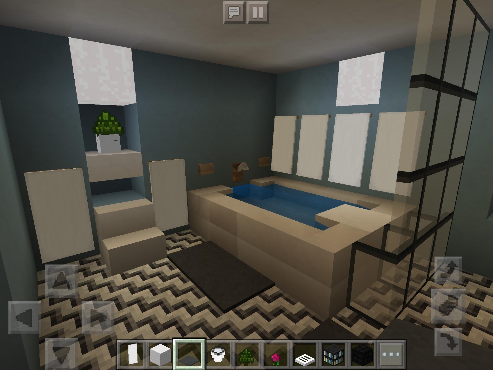 Minecraft Master Bath Minecraft Room Minecraft Bedroom Minecraft Furniture