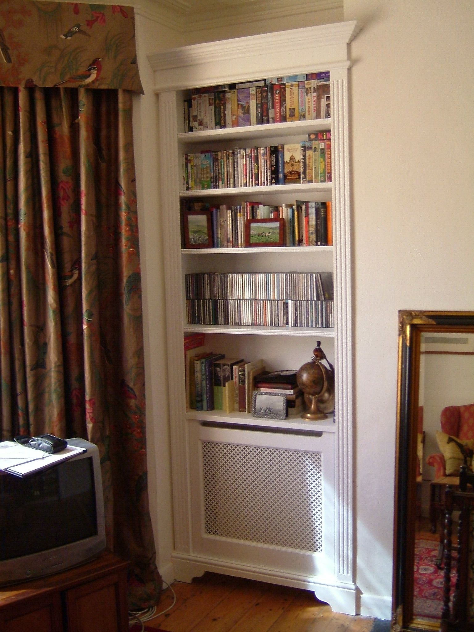 Concealed Radiator Cabinet And Bookcase Fitted Furniture