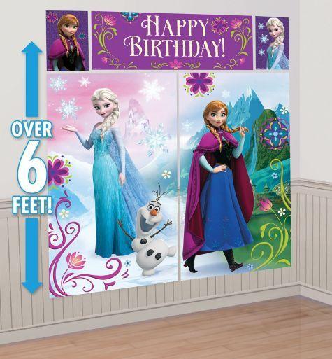 Frozen Scene Setter Party City anna half and birthday banner