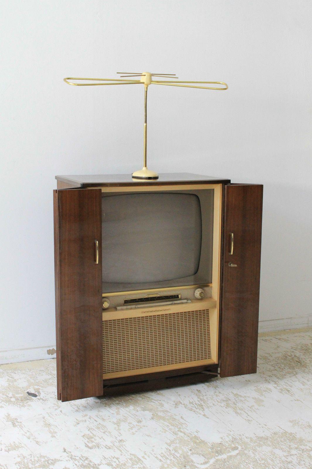 Malerisch Fernseher Schrank Foto Von Fernseh Nordmende SouverÄn Vintage 60s Tv Radio