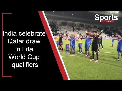 The Indian Football Team Celebrated On Pitch With Their Fans After Holding World Champions Qatar In A 2022 Fifa W World Cup Qualifiers 2022 Fifa World Cup Fifa