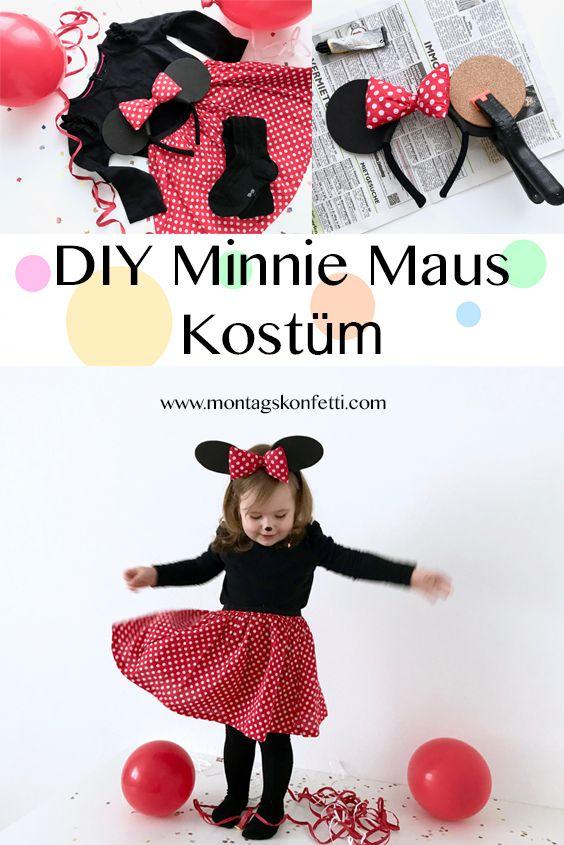 DIY Minnie Maus Kostüm - Eine Idee zum Kinderfasching gefällig? Wie wäre es mit dieser Umsetzung von Minnie Maus? #minniemouse