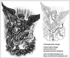 Archangel Tattoo Custom Tattoo Tattoo DesignerTattoo Template