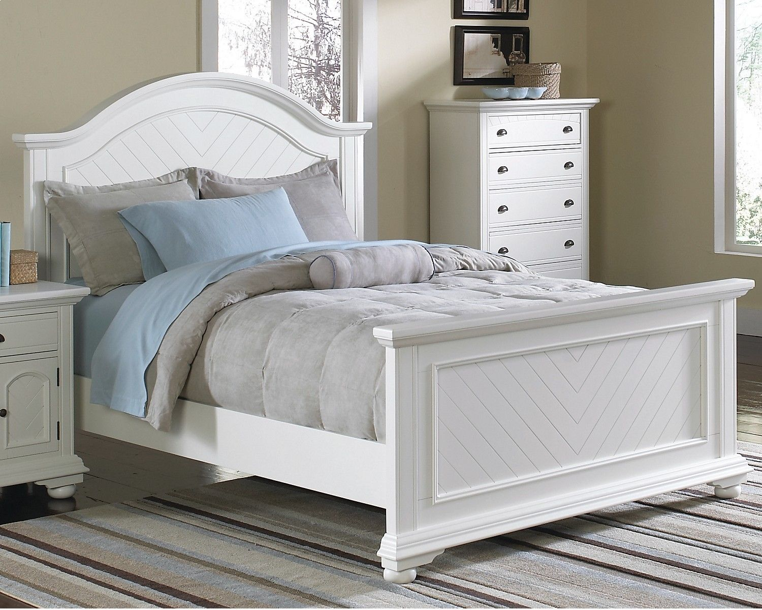 Types Of Beds Queen Panel Bed White Bedroom Set Furniture
