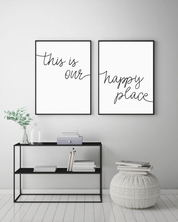 Photo of Dies ist unser Happy Place Printable Sign Place, Home Decor Prints, Kunst jenseits …