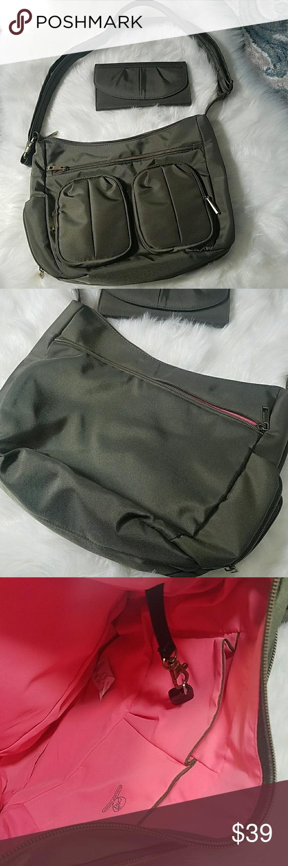 Travelon crossbody wallet set green anti theft   Crossbody wallet ... bcaf8bfd7c