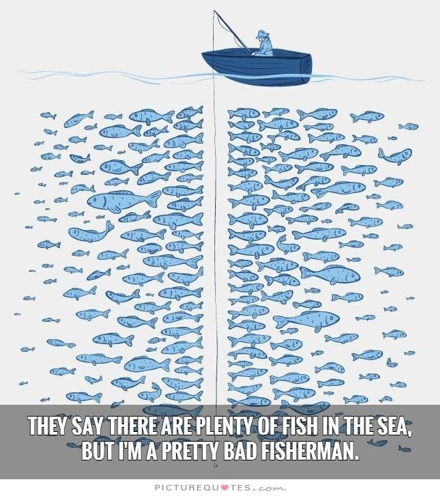 They say there are plenty of fish in the sea but i 39 m a for Plenty of fish search by interest