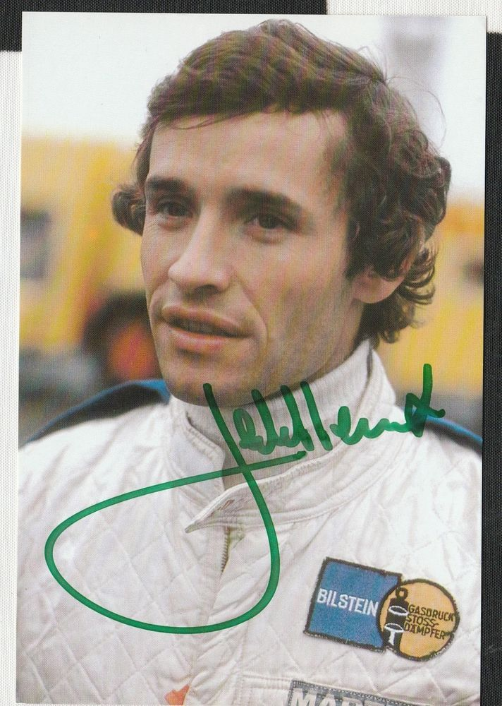 JACKY ICKX HAND SIGNED ORIGINAL PERIOD PORTRAIT on