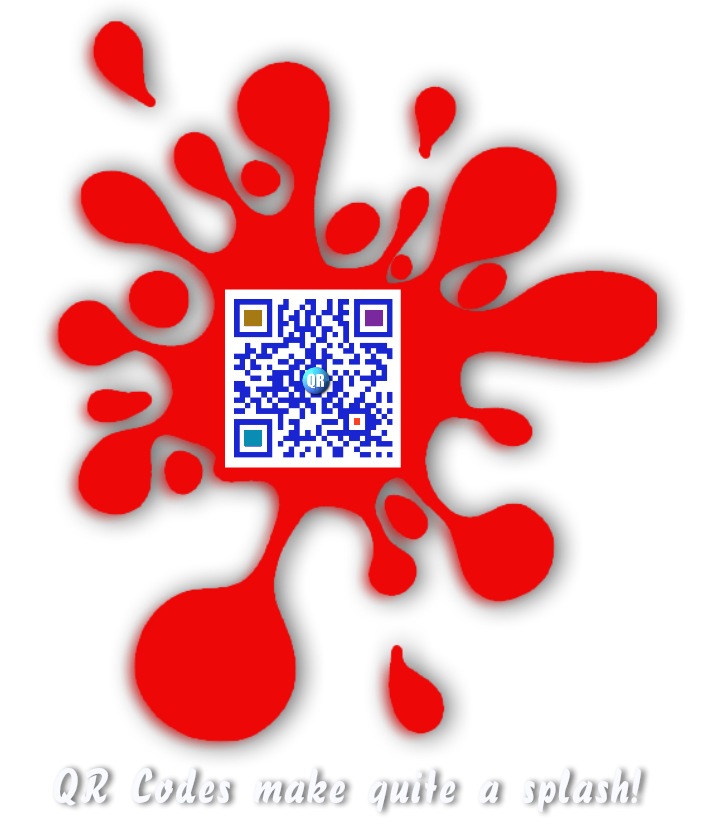 QR Codes make quite a splash! (Sample only)