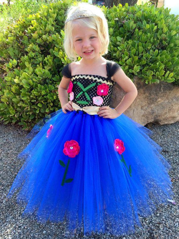 anna princess dress princess dress princess tutu dress disney costume frozen dress frozen costume halloween costume anna costume - Halloween Anna Costume