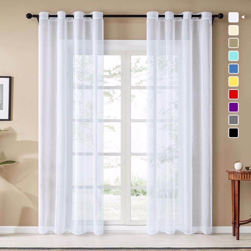 Photo of Tende di lino voile trasparente Topfinel per la camera da letto della finestra …