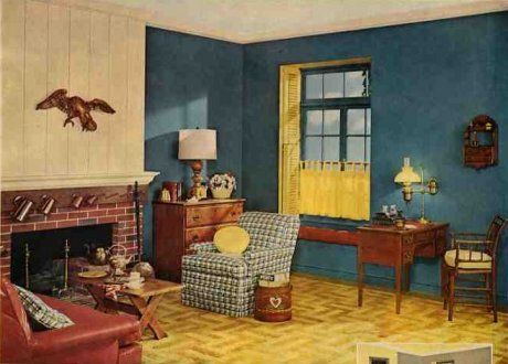 Living Room 1950s 1952 duco paint living room | 1950's decor | pinterest | living