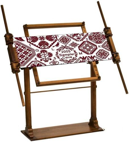 Large Mahogany Grand Ultimate Rotating Scroll Frame Stand ...