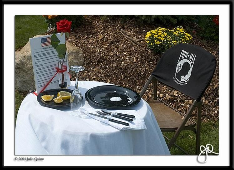 The Pow Mia Table At Every Galley And At The Navy Day Ball Navy For Moms Navy Day Pow Mia Fallen Soldier