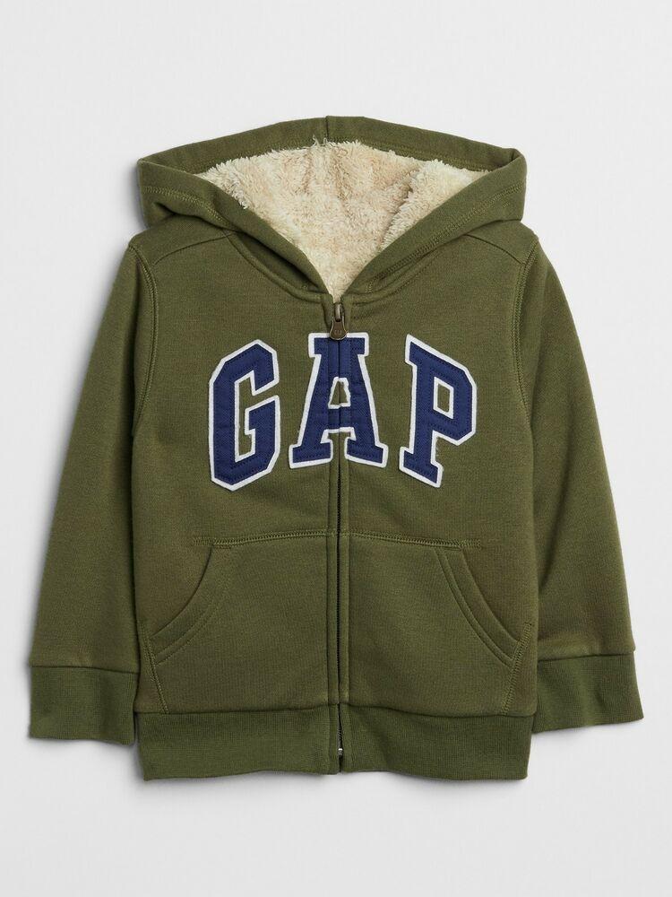 GAP Boy/'s Brown Logo Hoodie Sweatjacket Size SMALL NWT