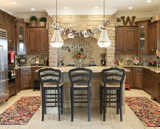Decorating Above Kitchen Cabinets Tuscan Style Decor Eclectic