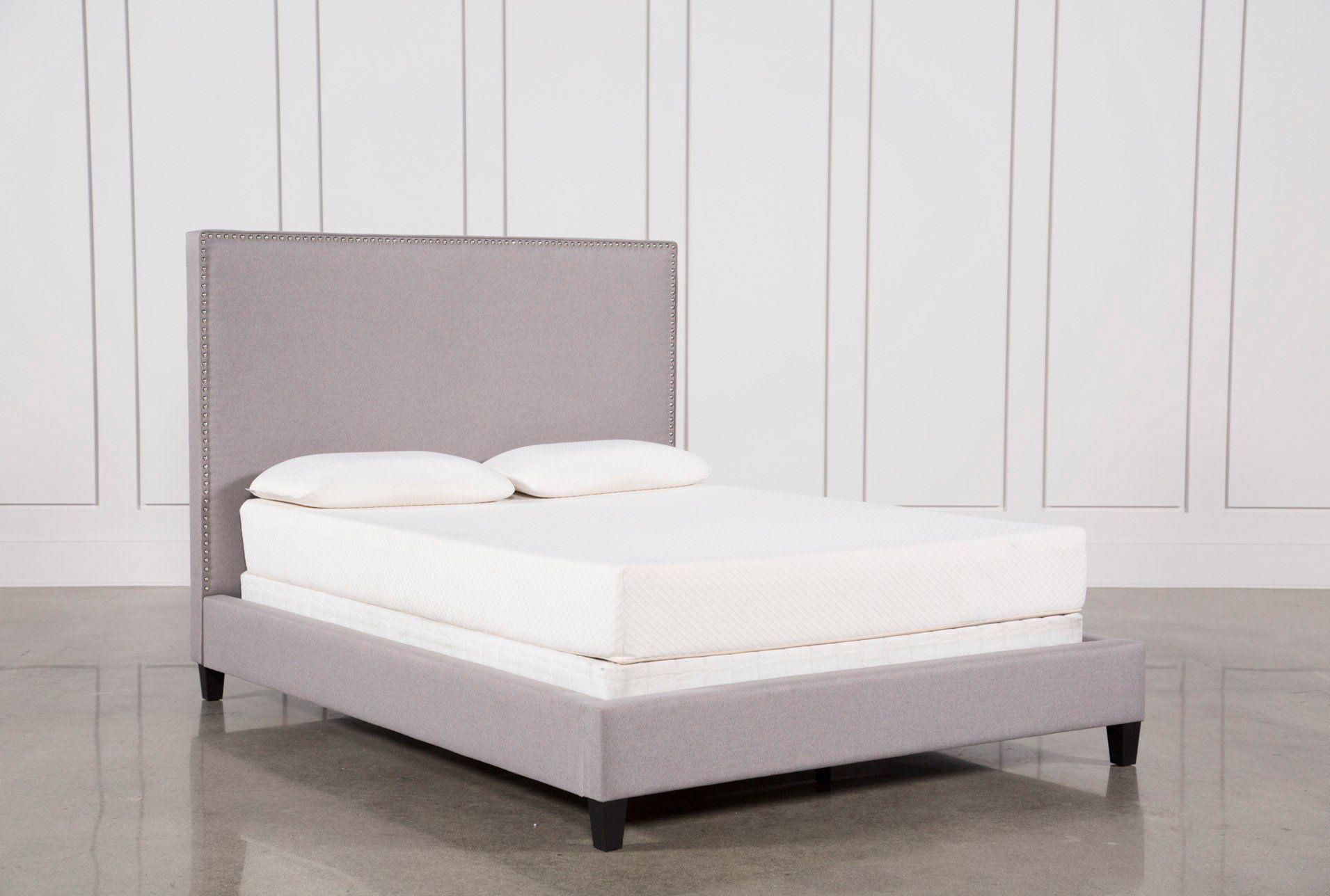 Shop For Kaelyn Queen Upholstered Panel Bed At Livingspaces Com Enjoy Free Store Pick Up Same Day Shipp Panel Bed Upholstered Panel Bed Affordable Bed Frames