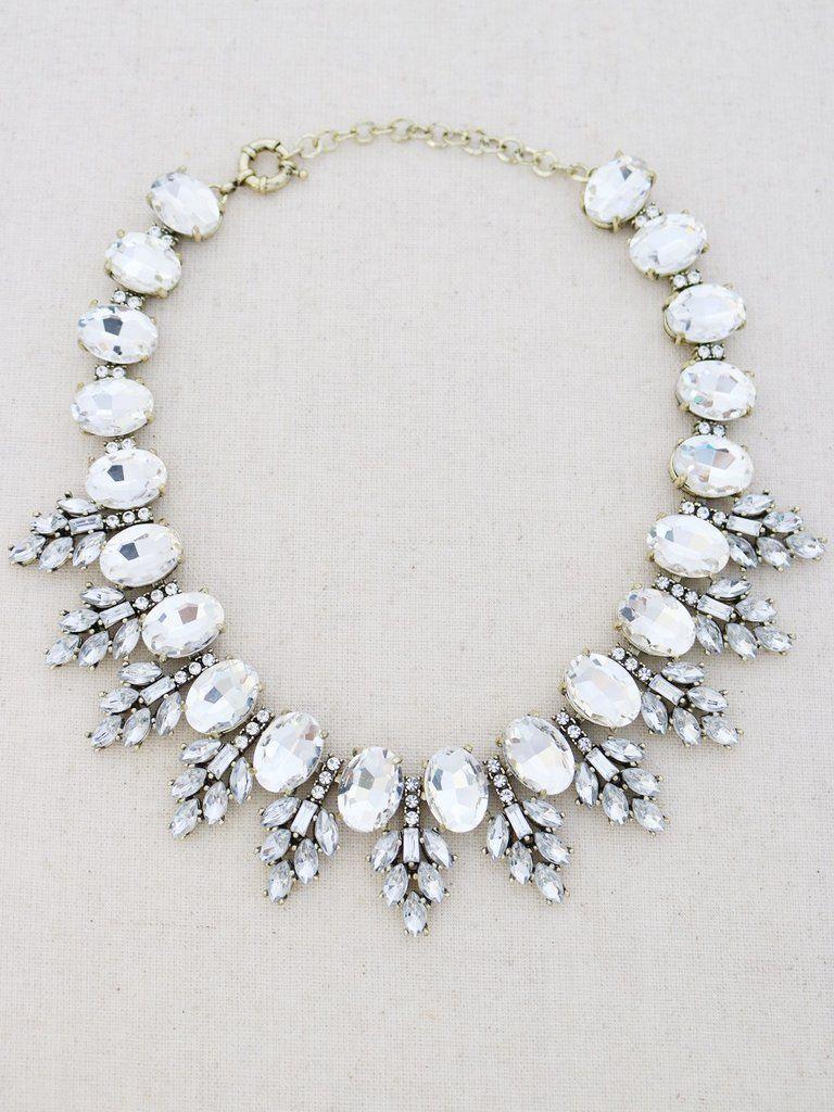 Mauna Kea Statement Necklace Crystal statement necklace