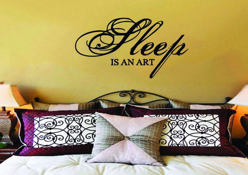 Sleep is an Art Bedroom Wall Sticker   Wall Quote Vinyl Wall ...