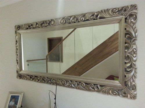 6ft X 3ft 183cm X 92cm Large Silver Carved Antique Design Ornate Big Wall Mirror By Mirroroutlet Http Www Amazon Co Uk Mirror Mirror Wall Modern Mirror Wall