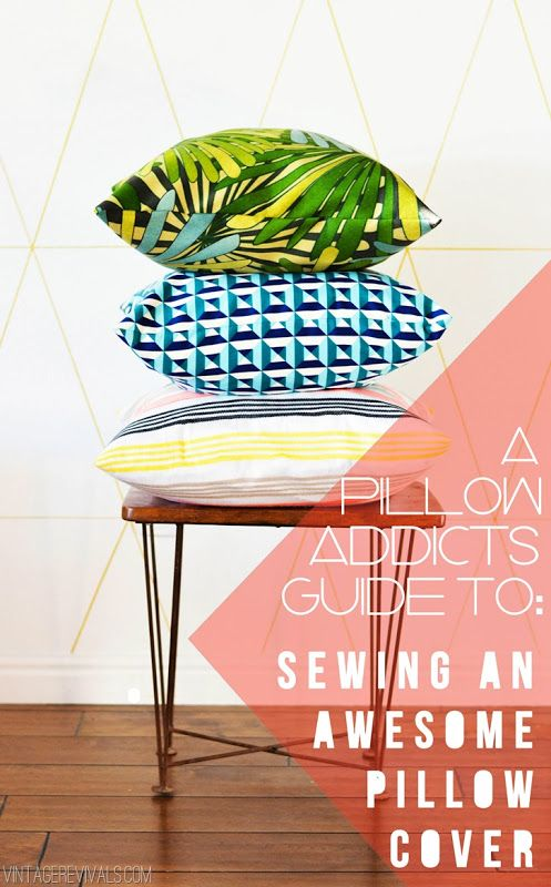 Confessions of a Pillow Addict: My Weird (and Surprisingly Efficient) Way To Sew An Envelope Pillow - Vintage Revivals