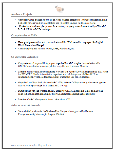 mba finance resume free download in word  2