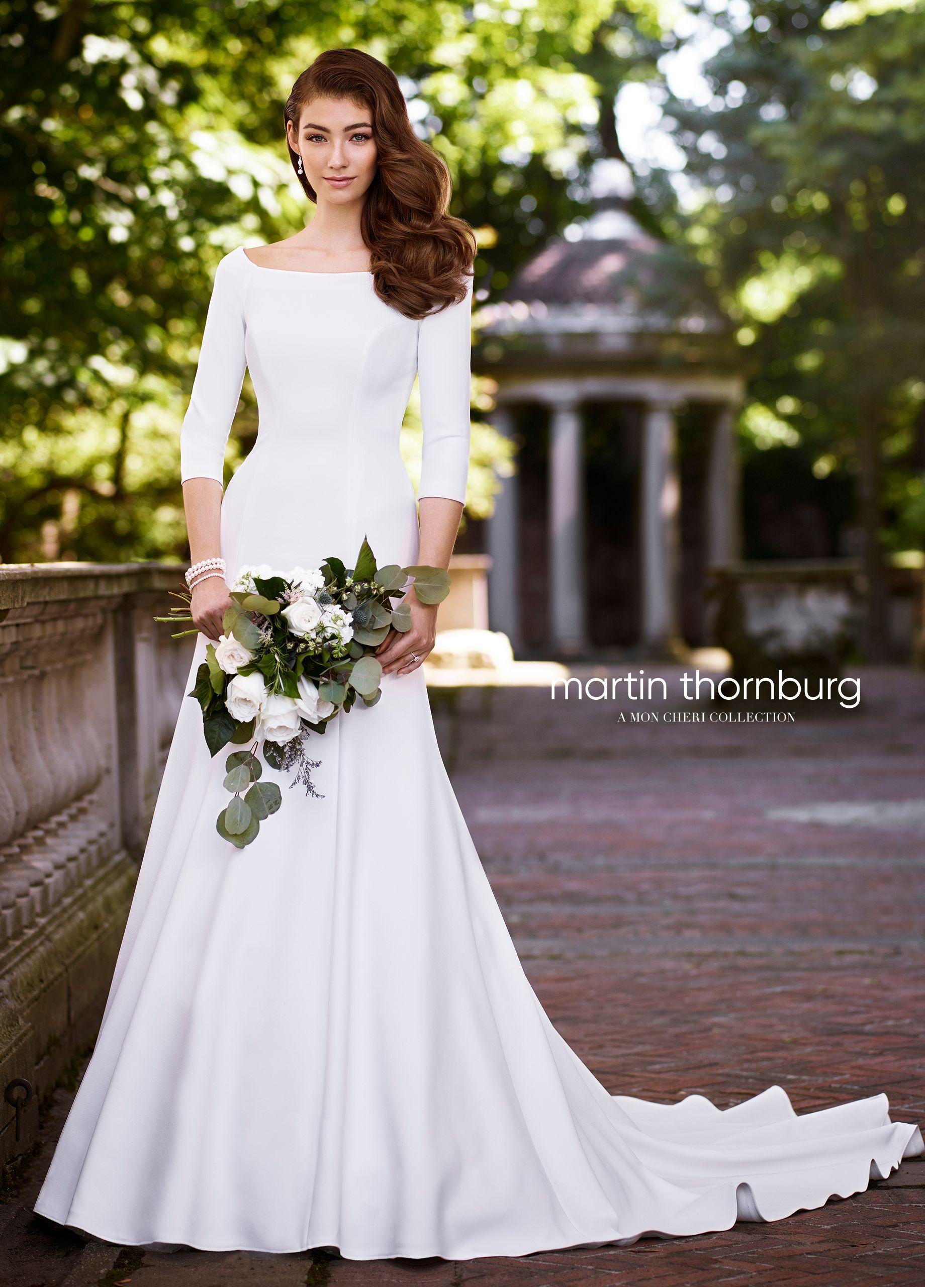 Martin Thornburg Naomi 119255 Wedding Gowns With Sleeves Mon Cheri Wedding Dresses White Bridal Gown [ 2560 x 1840 Pixel ]