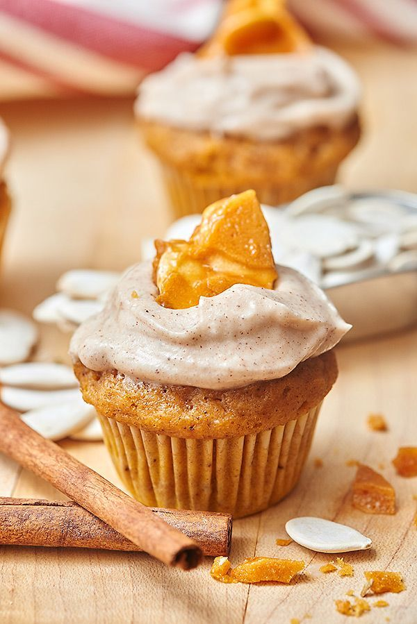 We're making pumpkin cupcakes with cinnamon cream cheese frosting and a special pumpkin seed brittle over here at Show Me the Yummy...come on over! http://showmetheyummy.com