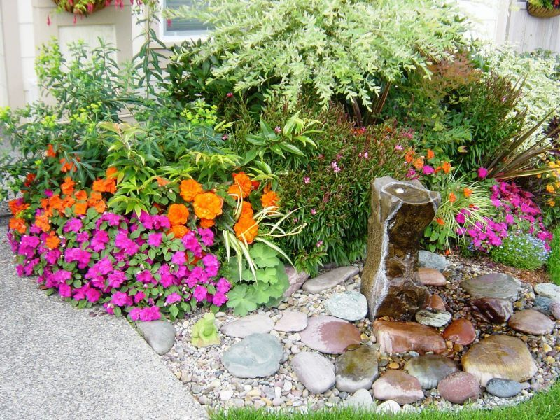 Front Yard Water Feature Ideas Part - 35: Back Yard Landscape , 9 Fantastic Front Yard Fountains : Backyard  Landscaping Ideas For Small Spaces