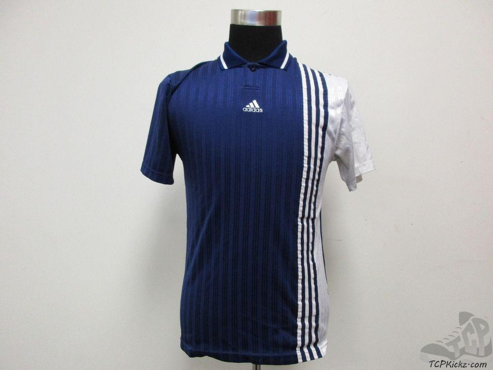 Vtg 90s Adidas Short Sleeve Collared Soccer Jersey Shirt Sz S Small 3 Stripes Adidas Shorts Jersey Shirt Fan Apparel