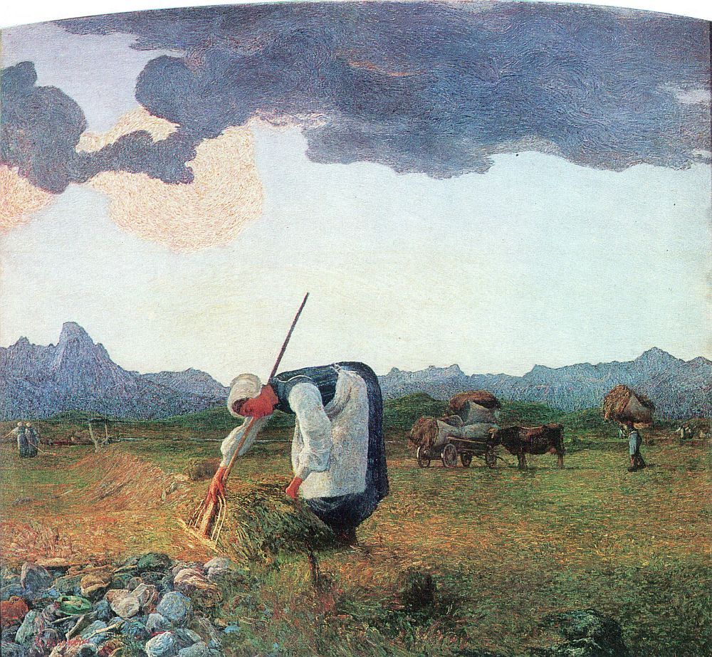 Watercolor artists directory wiki - Giovanni Segantini Die Heuernte 1890 1898 Giovanni Segantini Wikipedia