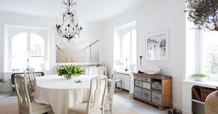 Nordic style e shabby chic per un bellissimo appartamento