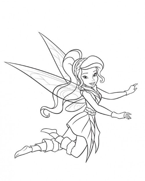 Friend Tinker Bell Vidia Cute Coloring Page Fairy Coloring Pages