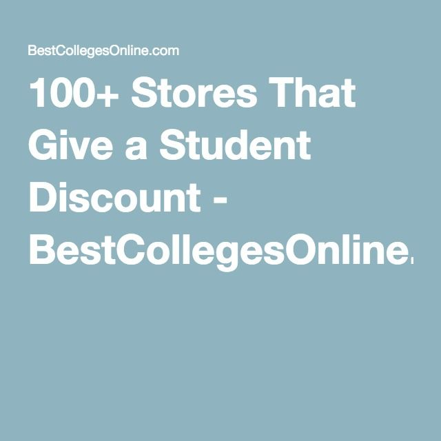 100+ Stores That Give a Student Discount - BestCollegesOnline.com