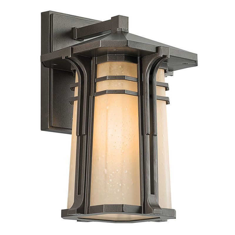Kichler 49175fl craftsman mission single light medium kichler 49175fl craftsman mission single light medium fluorescent outdoor wall sconce from the north creek mozeypictures Images