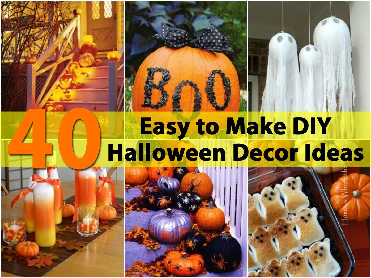 40 Easy to Make DIY Halloween Decor Ideas Diy halloween