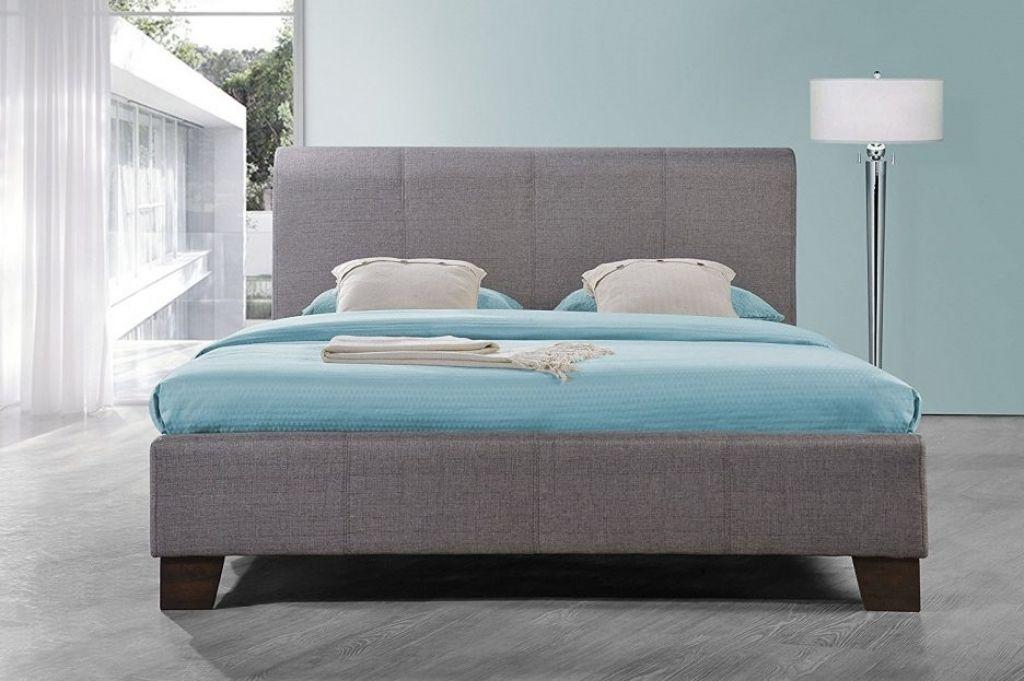 Grau Holz Bett Rahmen #Bettrahmen | Bettrahmen | Pinterest