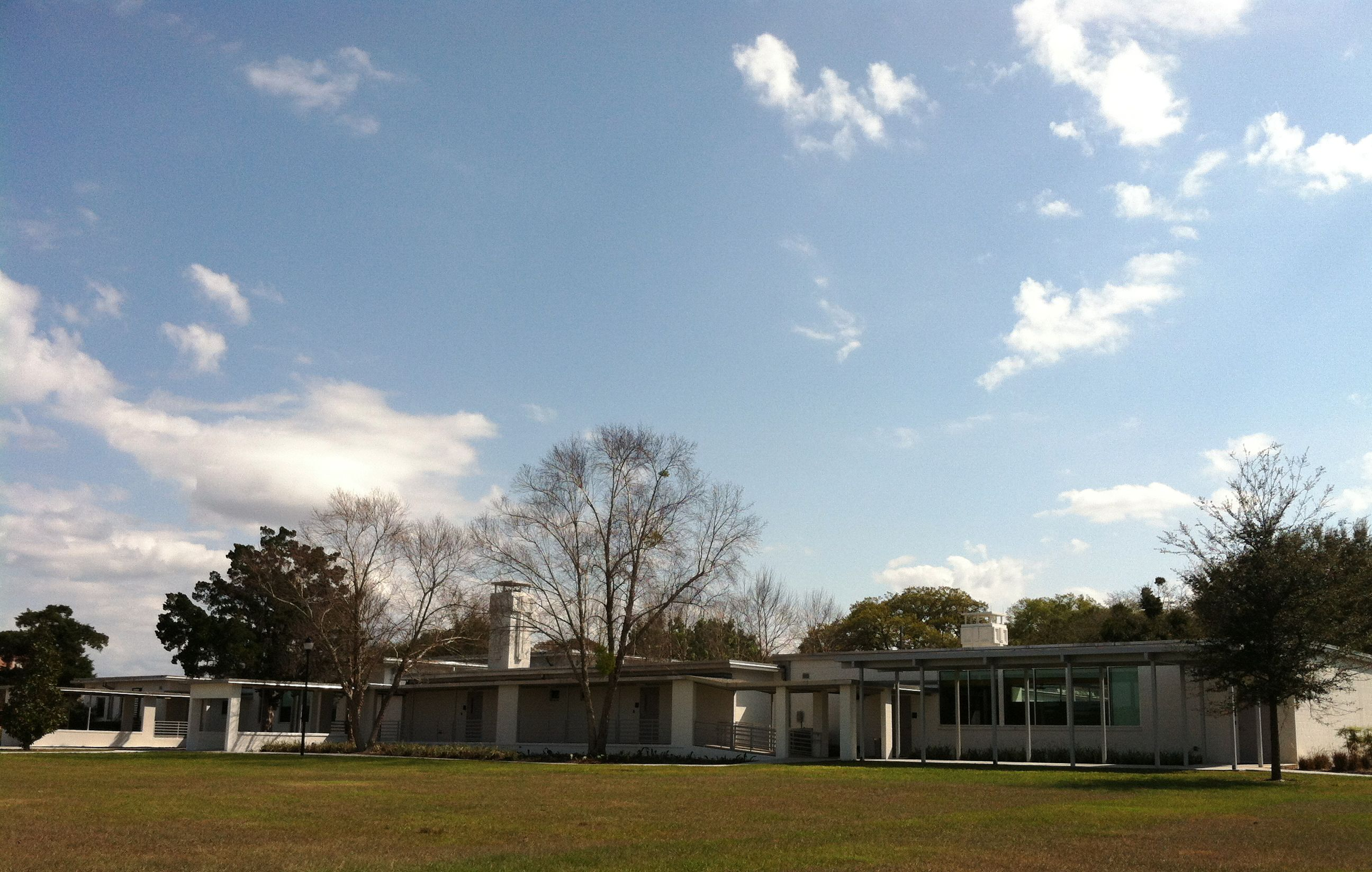 The view of the jessie brock community center in winter garden from behind out by the hiking for Winter garden recreation center