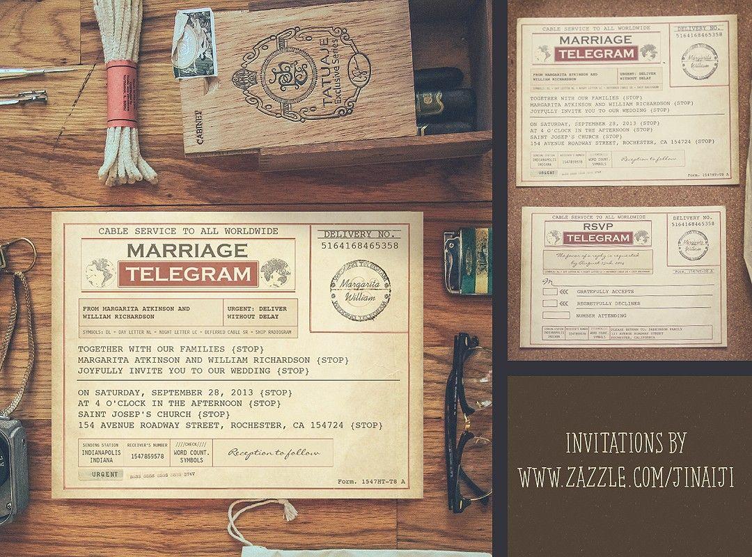 NEED WEDDING IDEA ?  Telegram wedding invitation, Vintage wedding