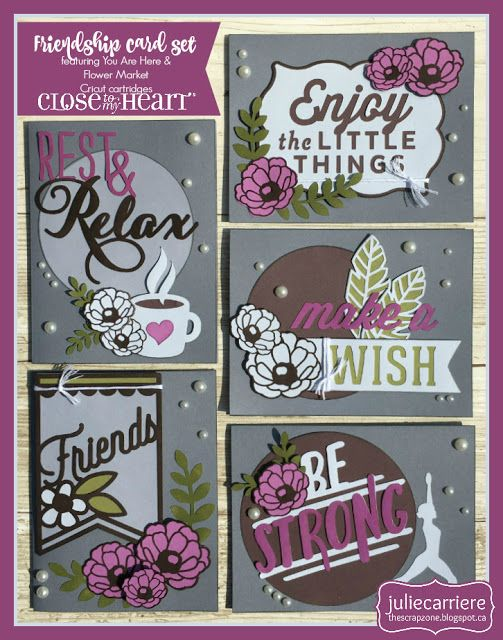 friendship cardmaking workshop using the you are here cartridge