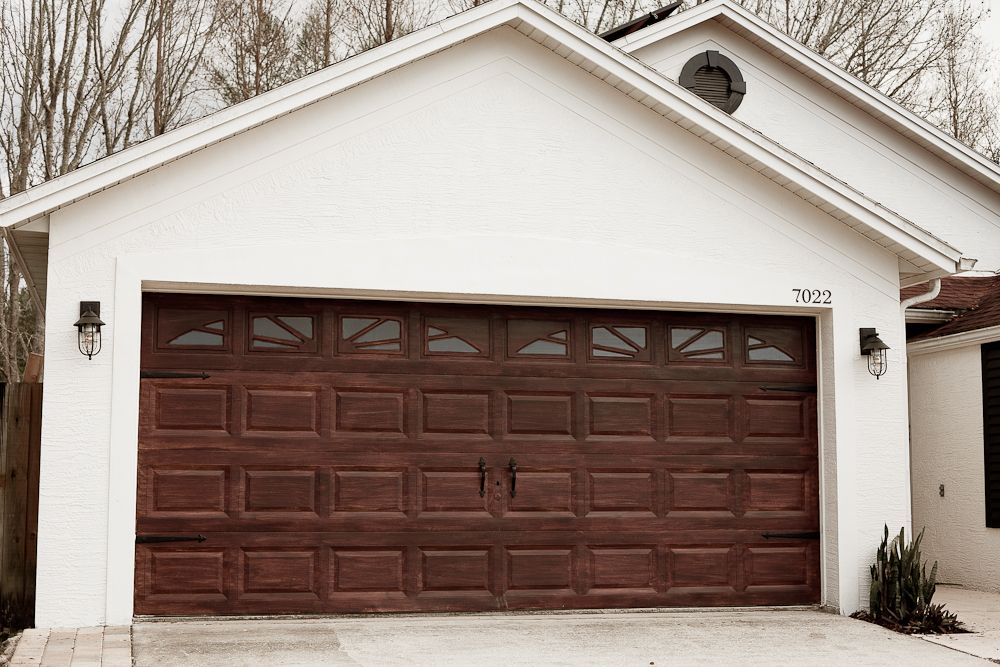 DIY Garage Door Makeover with Gel Stain DIY Fresh