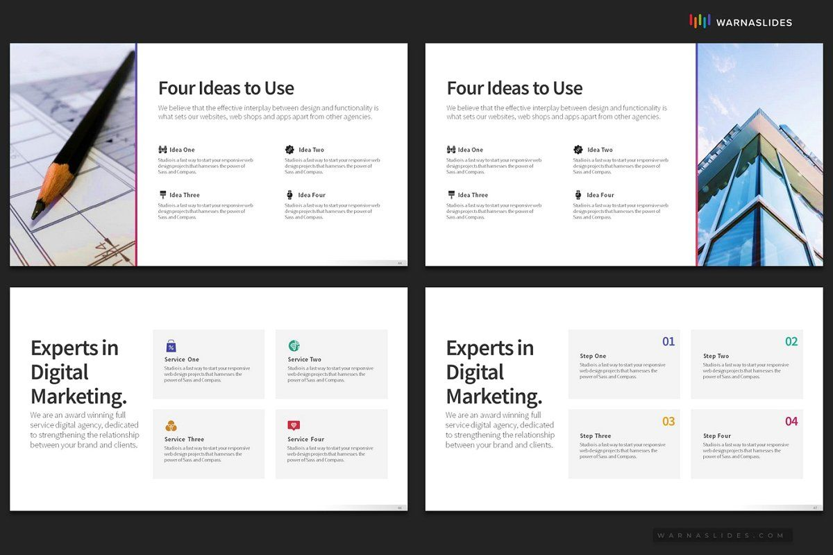 4 Bullet Points PowerPoint Templates in 2020 Powerpoint