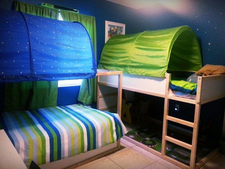 My kids bedroom ♥ Kura Childrens ikea beds shared kids rooms