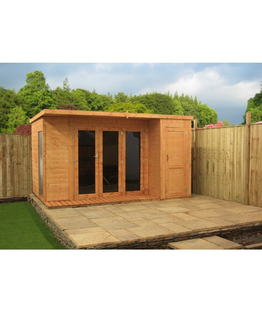 buy mercia shiplap pent wooden garden room shed combi. Black Bedroom Furniture Sets. Home Design Ideas