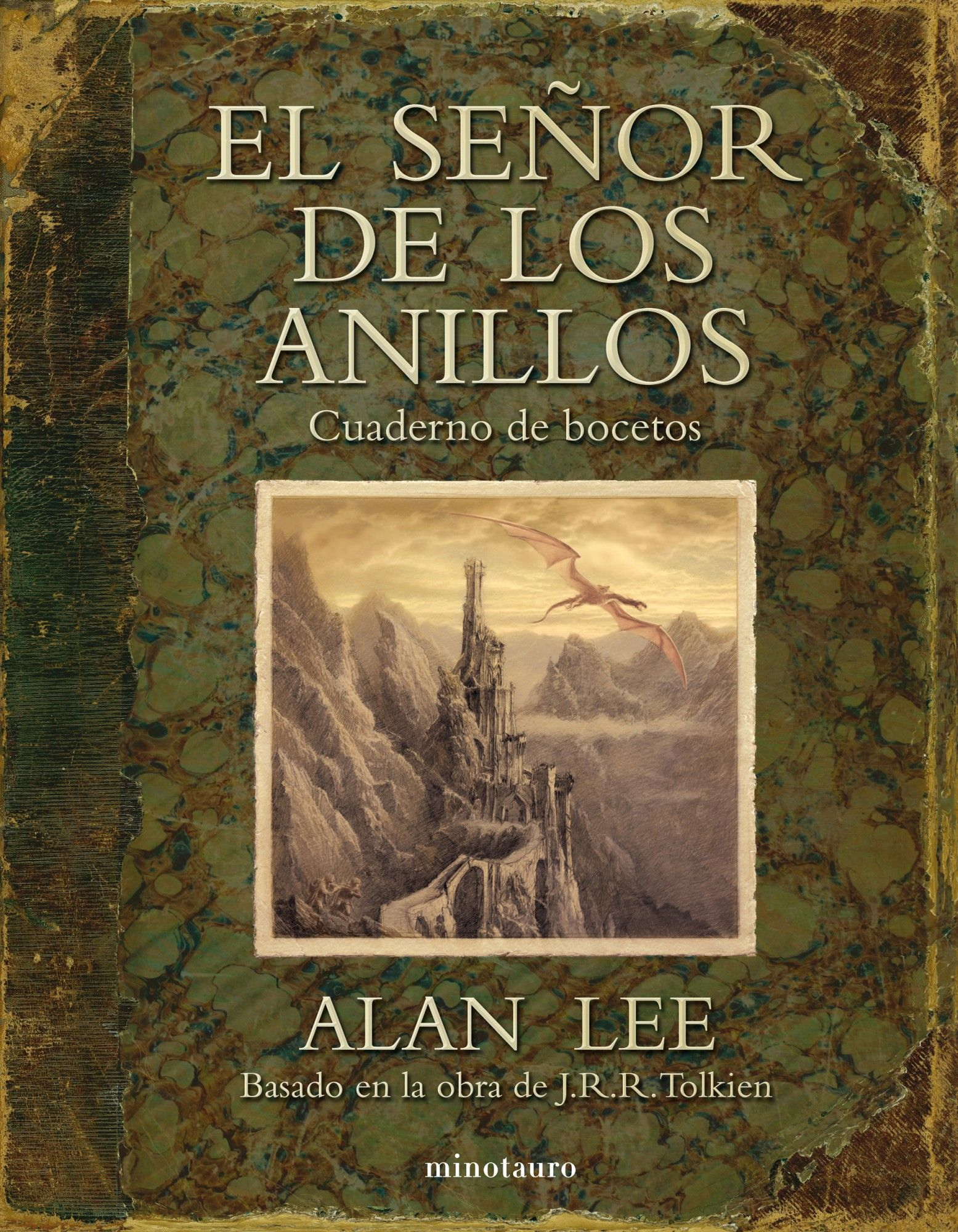 El Senor De Los Anillos Cuaderno De Bocetos Minotauro Sketch Book Lord Of The Rings Alan Lee