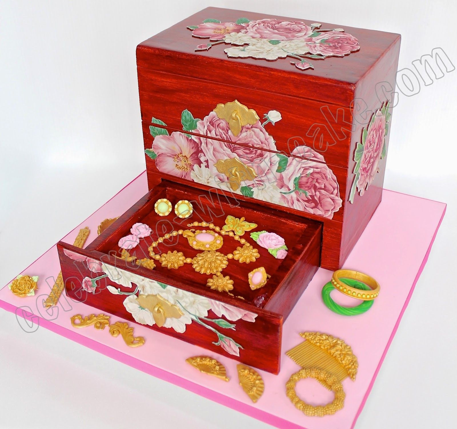 3d sculpted jewelry box cake box cake jewelry box