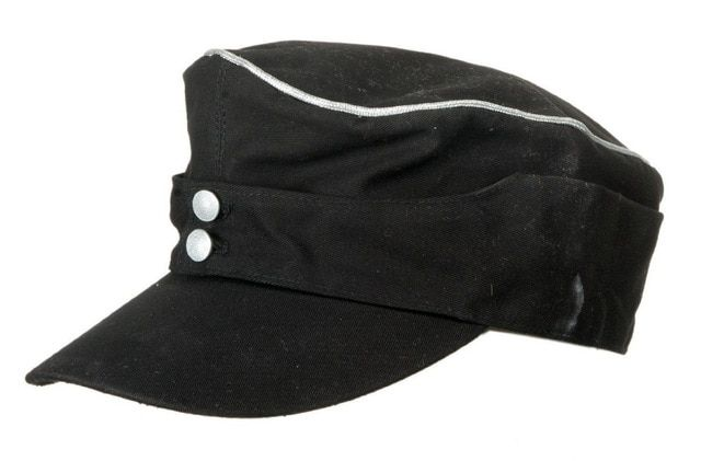 031bcb74669 WWII WW2 GERMAN ELITE OFFICER SUMMER PANZER M43 FIELD COTTON Cap Hat Black  IN SIZES Review