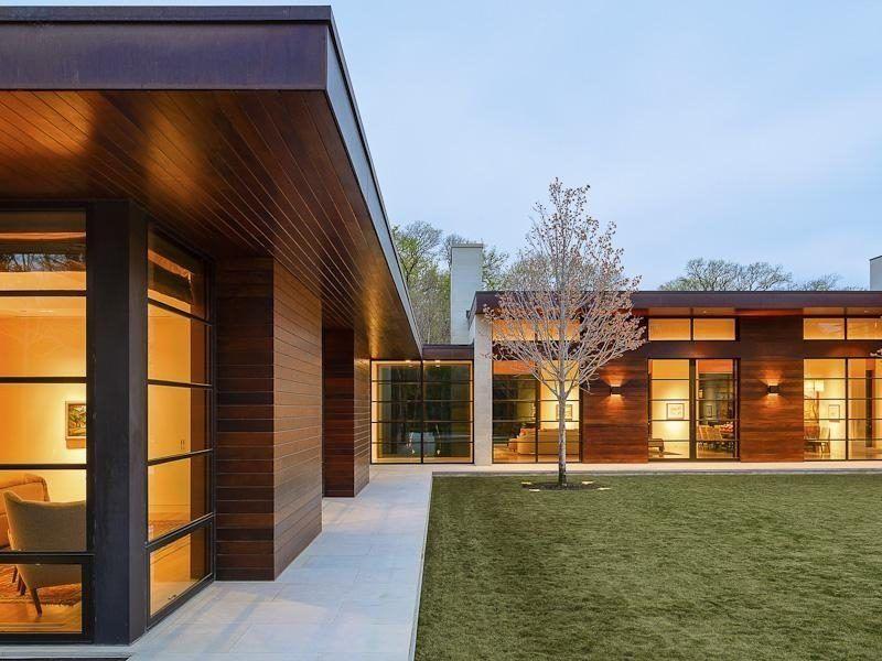 Steel-Framed \u0027Soft Contemporary\u0027 in Dallas Asks $975M Wood siding