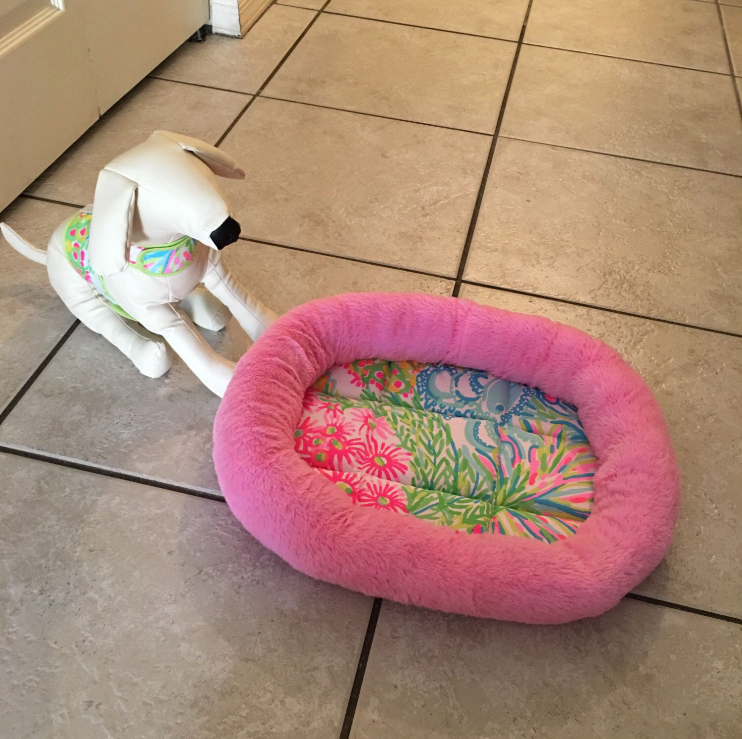 A personal favorite from my Etsy shop https://www.etsy.com/listing/453198464/lilly-pulitzer-pet-dog-cat-bed-lovers